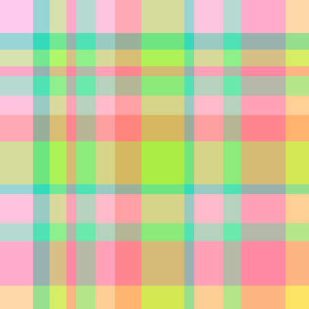 Checkered pattern. Colorful seamless checked pattern. Geometric print. Colored fabric. Print for textiles 矢量图像