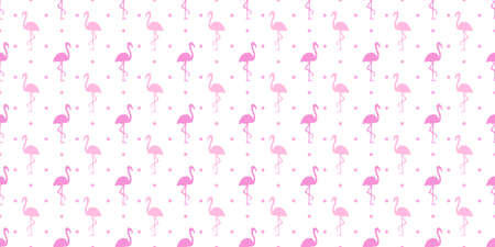 Seamless dotted background with flamingos. Print for polygraphy, shirts and textiles. Abstract texture. Colorful illustration 矢量图像