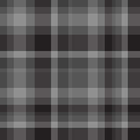 Seamless pattern. Checkered monochrome background. Abstract cloth texture. Black and white illustration
