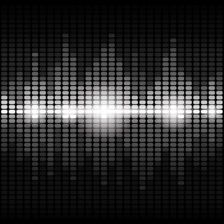 musica electronica: Luminoso ecualizador digital de plata con destellos RGB 10 EPS vectoriales