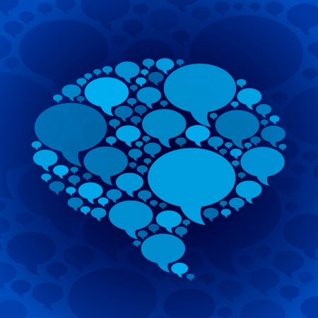 Chat bubble symbol on blue background  RGB EPS 10 vector Vector