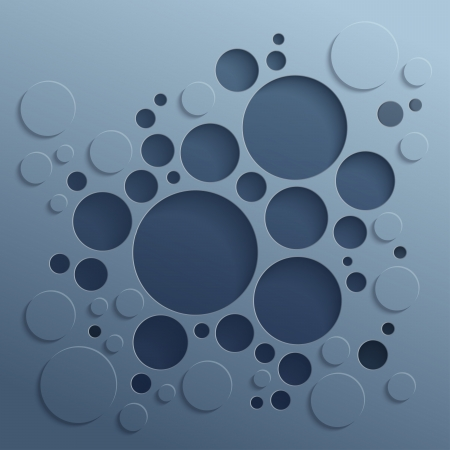 bevel: Abstract 3D background with dark inner and outer circles