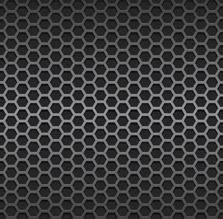Silver metallic grid background. Stock Vector - 24697402