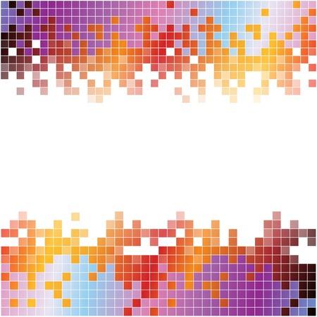 抽象的なカラフルなピクセル デジタル背景。