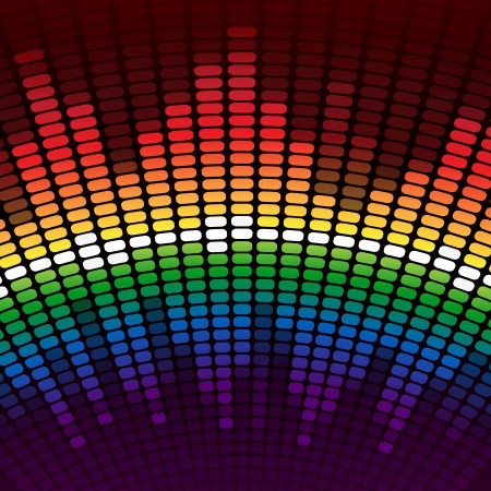 Rainbow digital equalizer background. RGB EPS 10 vector Ilustração