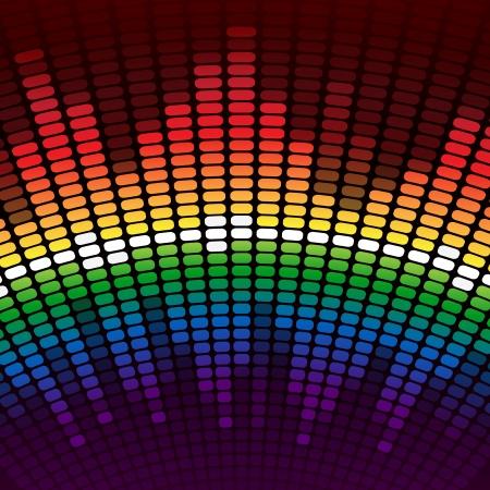 Rainbow digitale equalizer achtergrond. RGB EPS-10 vector Stock Illustratie