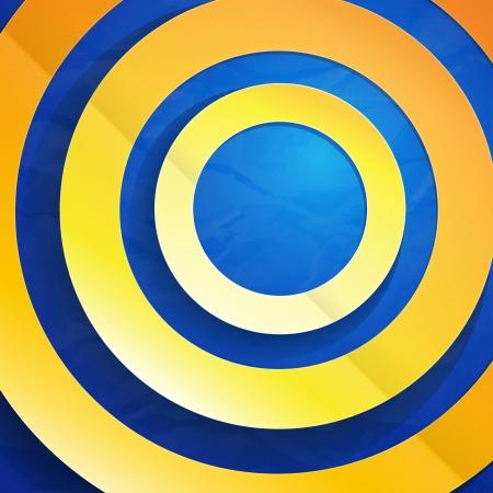 inforgaphic: Yellow, orange and blue paper circles. RGB EPS 10 vector Illustration