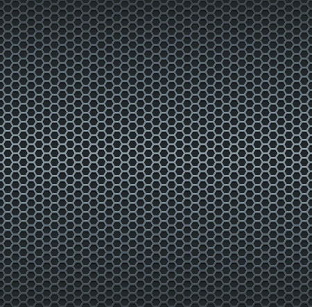 Silver metallic grid background. RGB EPS 10 vector illustration Ilustração
