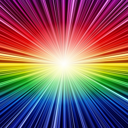 Abstract rainbow stripes burst background. RGB EPS 10 vector