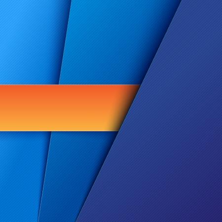 Abstracte achtergrond met blauw papier lagen. RGB EPS-10 vector Stock Illustratie
