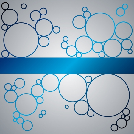 Abstract background with blue shining circles. RGB EPS 10 vector Ilustração