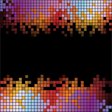 カラフルなピクセル デジタル背景を抽象化します。RGB EPS 10 ベクトル