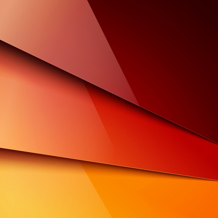 abstract shape: Red and orange paper layers background. RGB EPS 10 vector