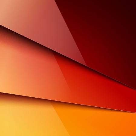 Rood en oranje papier lagen achtergrond. RGB EPS-10 vector Stock Illustratie