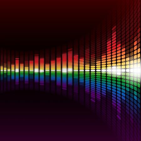 Rainbow digital equalizer background. RGB EPS 10 vector Banco de Imagens - 24832068