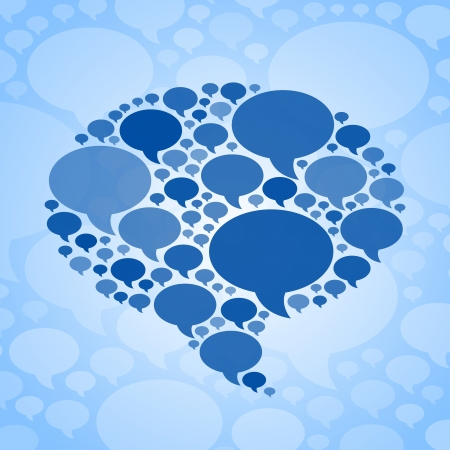 Chat bubble symbol on blue background. RGB EPS 10 vector Vector