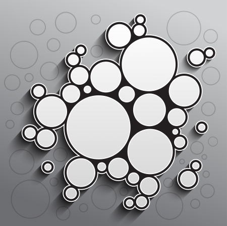 Abstract background with black and white circles. RGB EPS 10 vector