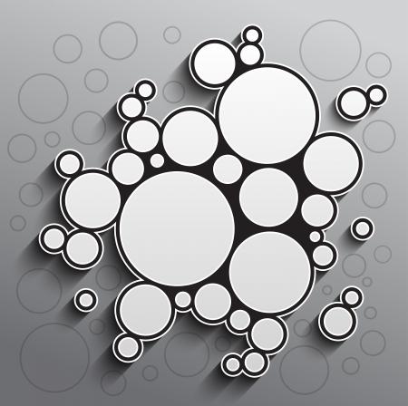 Abstracte achtergrond met zwarte en witte cirkels. RGB EPS-10 vector Stock Illustratie
