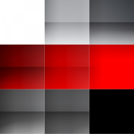 grid black background: Gray and red squares abstract background. RGB EPS 10 vector illustration