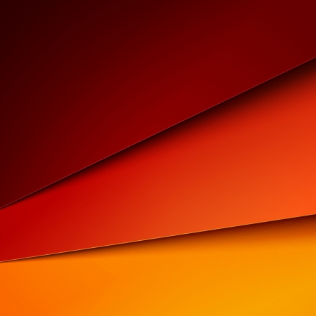 red line: Red, orange and yellow paper layers abstract vector background.