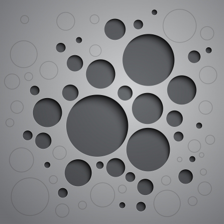 Abstract background with black and white circles.  Vector