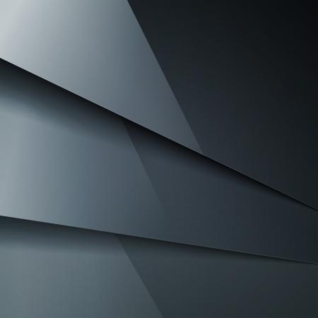 Abstracte achtergrond met donkergrijs metalen lagen. Stock Illustratie