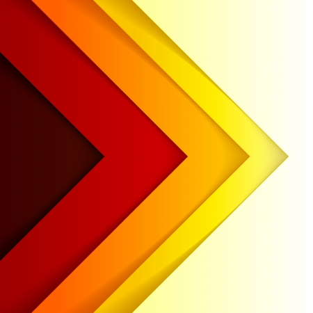 Abstract red and orange triangle shapes. Vector