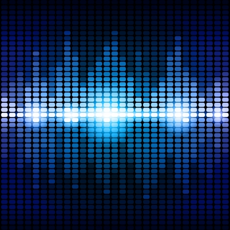 Blue and purple digital equalizer background.