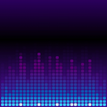 Blue and purple digital equalizer background. RGB EPS 10 vector illustration Vector
