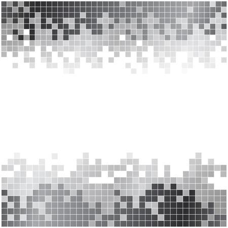 黒と白のピクセル デジタル背景を抽象化します。RGB EPS 10 ベクトル  イラスト・ベクター素材