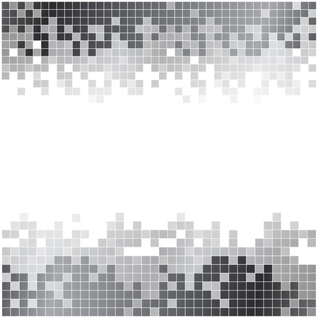 Abstract black and white pixels digital background. RGB EPS 10 vector