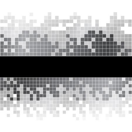 Abstracte zwarte en witte pixels digitale achtergrond. RGB EPS-10 vector Stock Illustratie