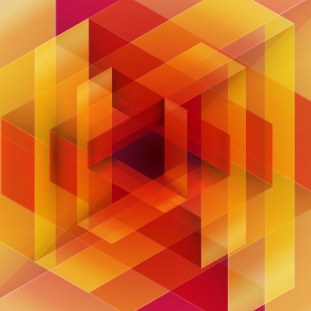 メビウス折り紙赤とオレンジ色の紙の三角形。RGB EPS 10 ベクトル  イラスト・ベクター素材