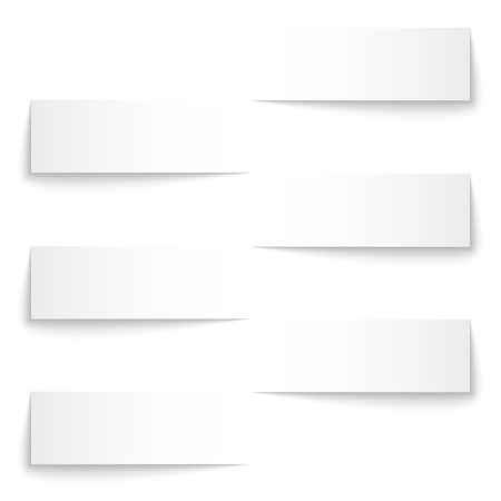Blank paper stripe banners with shadows. RGB EPS 10 vector Ilustrace