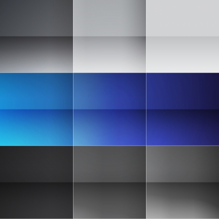 Gray and blue squares abstract background. RGB EPS 10 vector illustration Vector