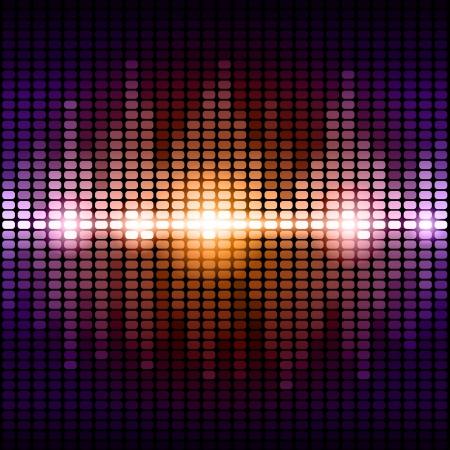 オレンジと紫デジタルイコライザーの背景。RGB EPS 10 ベクトル イラスト  イラスト・ベクター素材