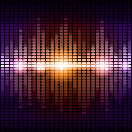 Orange and purple digital equalizer background. RGB EPS 10 vector illustration