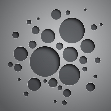 Abstract background with black and grey circles.