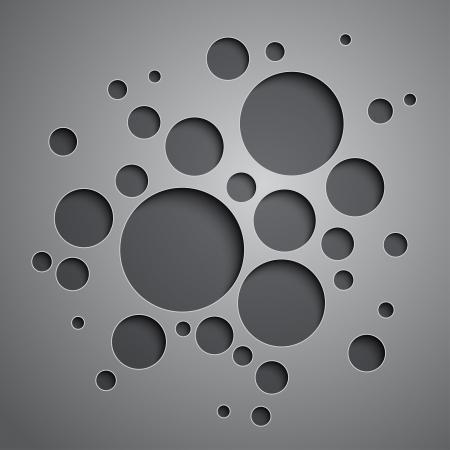 Resumen de antecedentes con los círculos negros y grises. Foto de archivo - 24921200