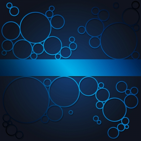 Abstract background with blue shining circles.