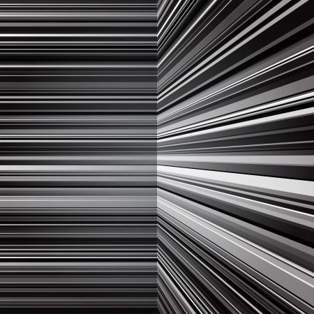 warped: Abstract warped grey stripes Illustration
