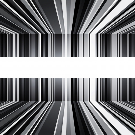 warped: Abstract black and white stripes  Illustration