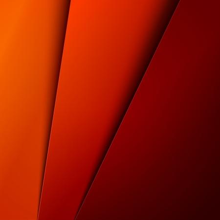 Rood, oranje en geel papier lagen abstract