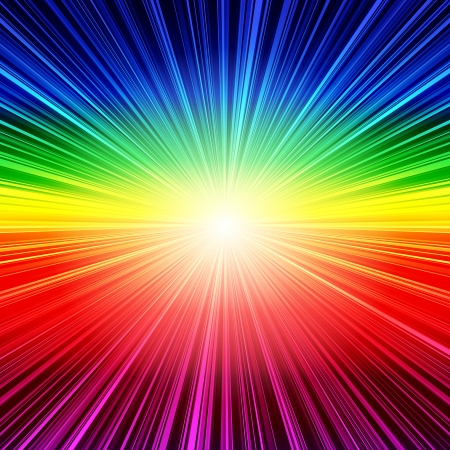 Abstract rainbow striped burst background. RGB EPS 10 vector illustration