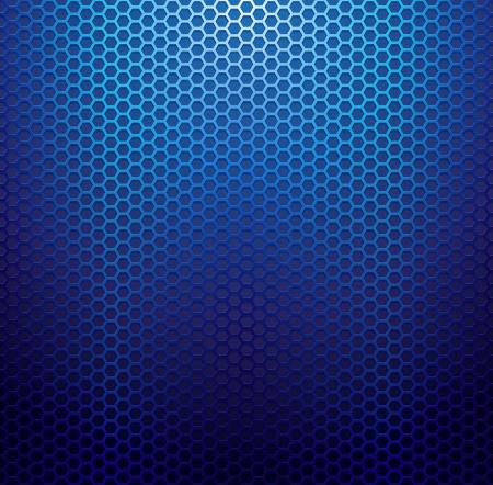 Blauw metallic rooster achtergrond. Stock Illustratie