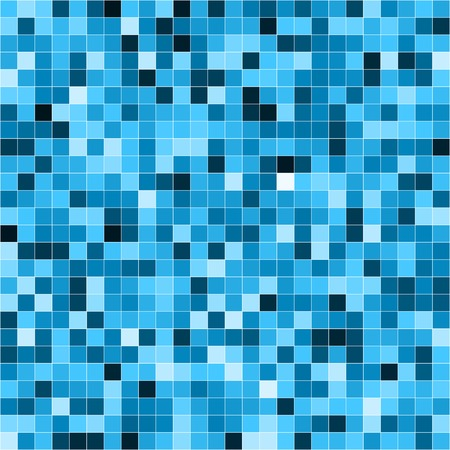 Abstract digital blue pixels seamless pattern background. RGB EPS 10 vector illustration Ilustrace