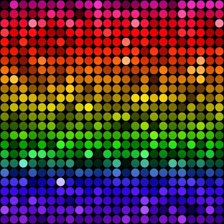 Abstract rainbow circles seamless pattern background. RGB EPS 10 vector illustration Banco de Imagens - 34113913