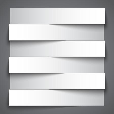 ruban noir: Foot papier blanc bande banni�res avec des ombres sur fond gris fonc�.