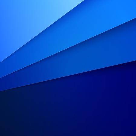 Blauwe papieren lagen abstracte achtergrond.
