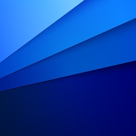 Blue paper layers abstract background.  Illustration
